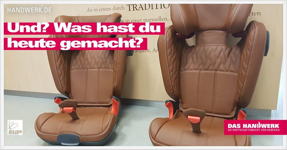 Kindersitze Nappaleder Handarbeit - Polsterei Bolder in Oberhausen